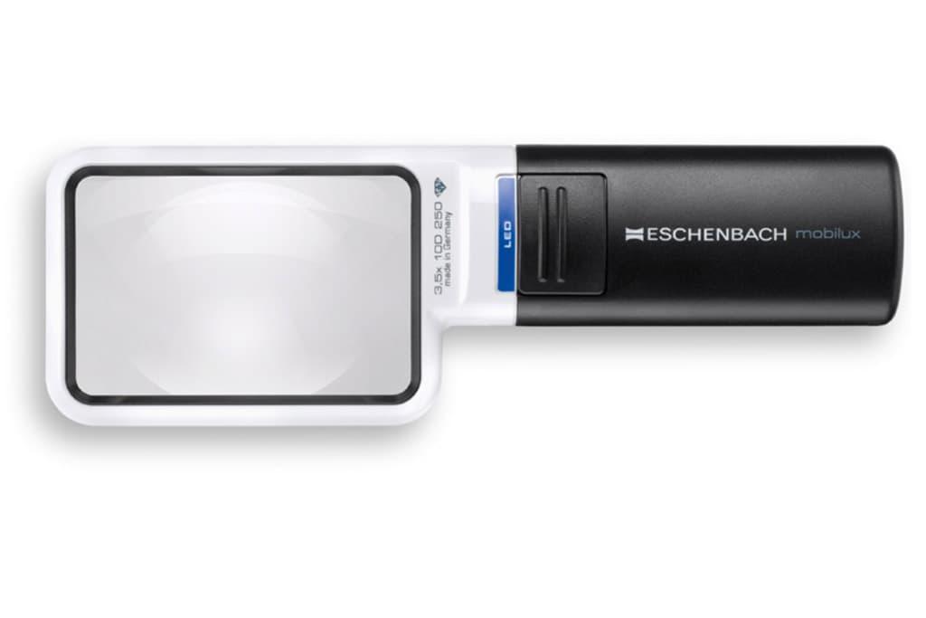 Kompakte Taschenleuchtlupe Eschenbach mobilux LED